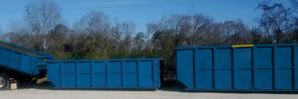Containerdienst: Müllcontainer